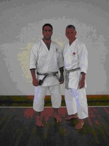 Chief instructor Sensei Lee with Sensei Patrick of Bukonkai Malta